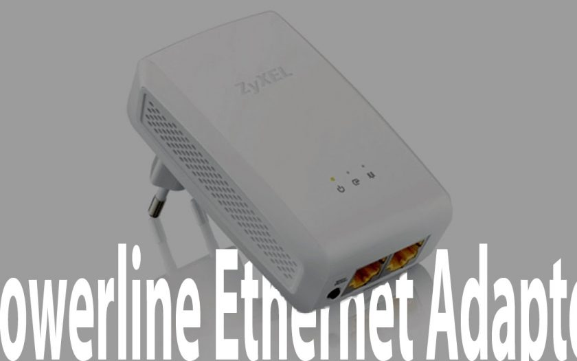 Home Computer Network With Powerline Ethernet Adapter